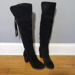 Franco sarto Ellyn suede black boots for woman 7